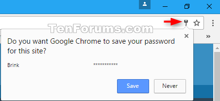 Turn On or Off Ask to Save Passwords in Google Chrome for
