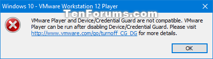 Install Windows 10 as Virtual Machine in VMware Player-vmware_workstation_player_credential_guard.png