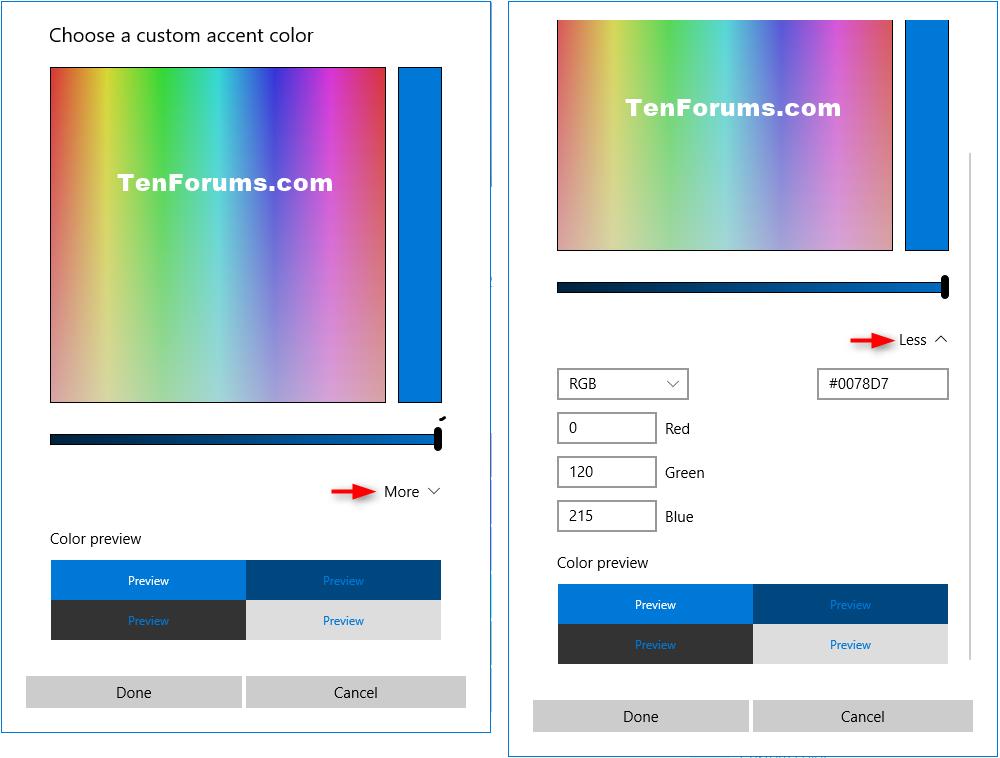 Change Accent Color In Windows 10 Windows 10 Tutorials