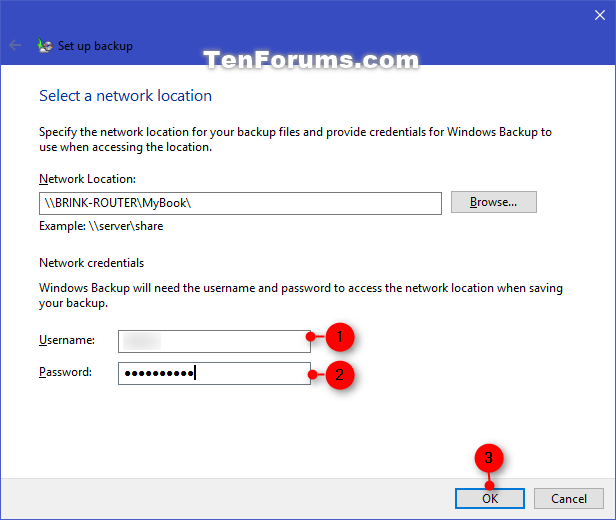 Change Windows Backup Settings in Window 10   Tutorials
