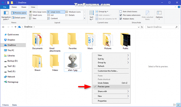 Click image for larger version.  Name:Preview_pane_context_menu-2.png Views:217 Size:103.3 KB ID:118712