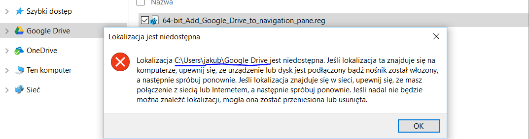 Add or Remove Google Drive from Navigation Pane in Windows 10 - Page