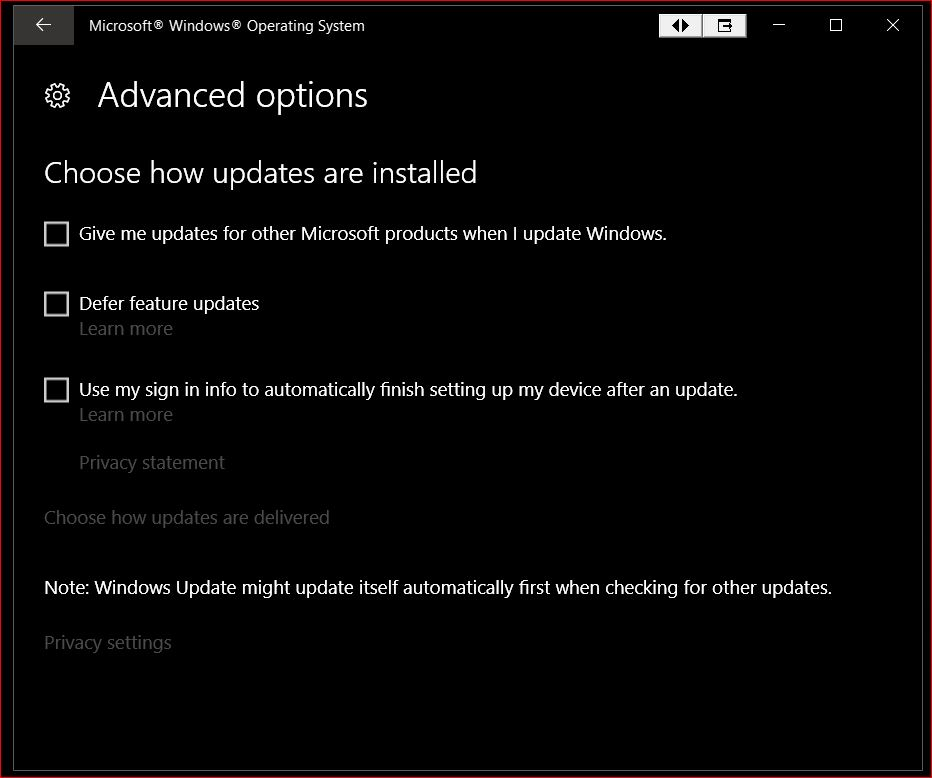 dell update application for windows 10 rs1+
