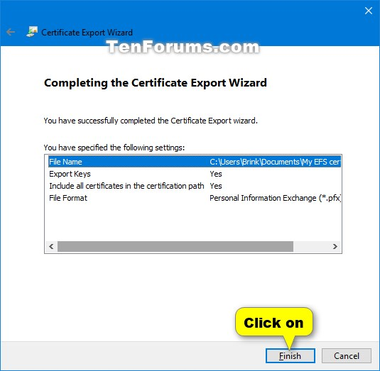 Backup Encrypting File System Certificate and Key in Windows