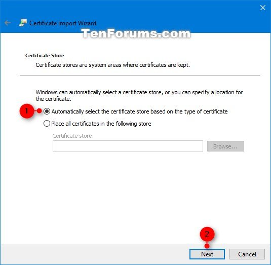 Import Encrypting File System Certificate and Key in Windows
