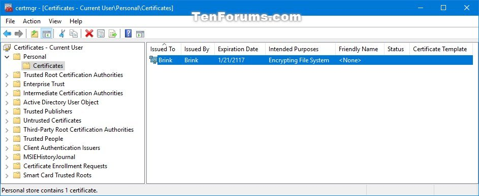 Import encrypting file system certificate and key in windows 10 click image for larger version name certmgrimportefscertificateandkey 4g views 491 yelopaper Image collections