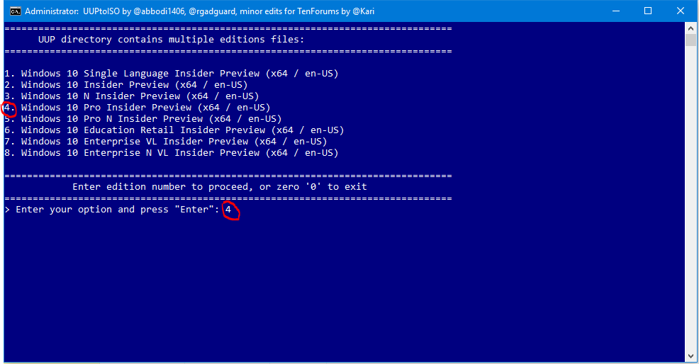 UUP to ISO - Create Bootable ISO from Windows 10 Build