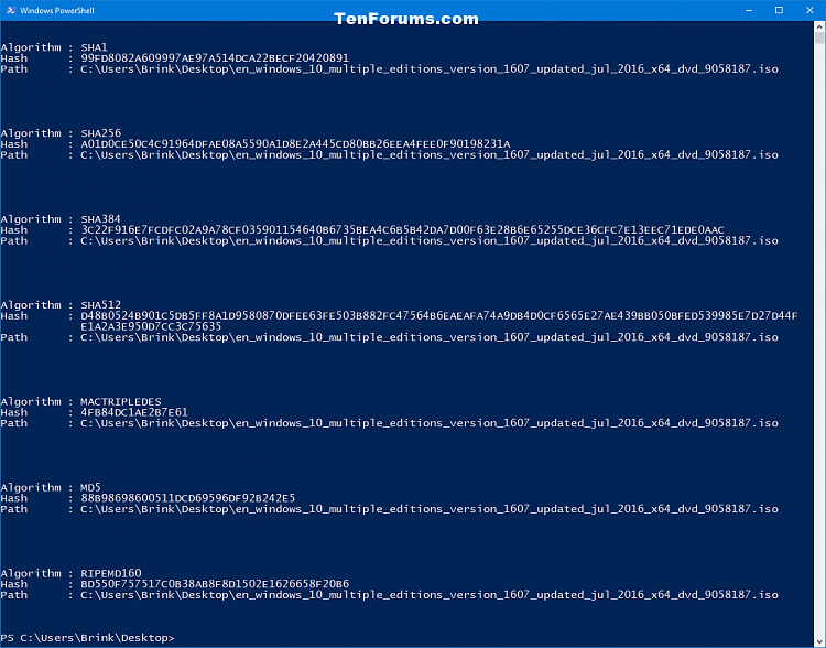 Click image for larger version.  Name:PowerShell_hash_results.png Views:543 Size:67.6 KB ID:123855