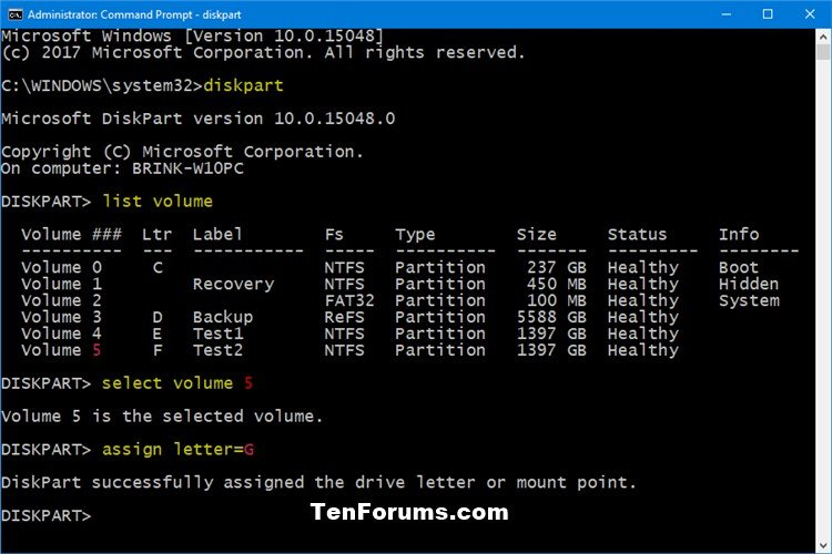 Change and Assign Drive Letter in Windows 10 | Tutorials