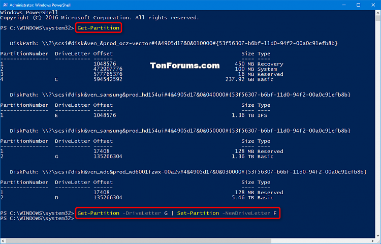 Click image for larger version.  Name:Change_drive_letter_in_PowerShell.png Views:314 Size:62.6 KB ID:124476