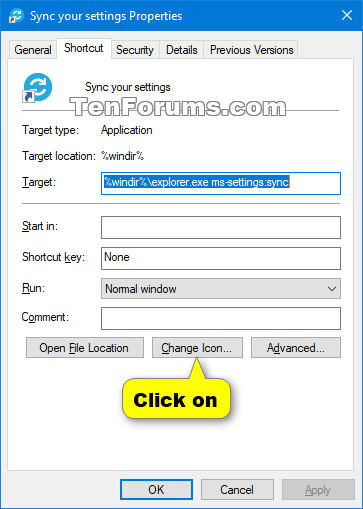 Create Sync your settings Shortcut in Windows 10-shortcut3.png