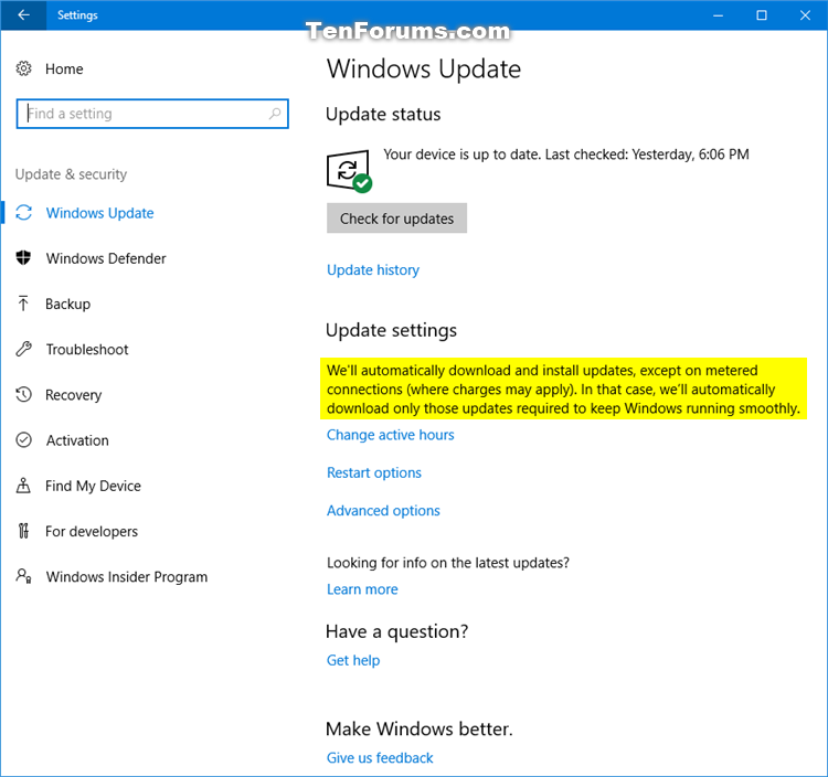 Set Wireless Network as Metered or Non-Metered in Windows 10