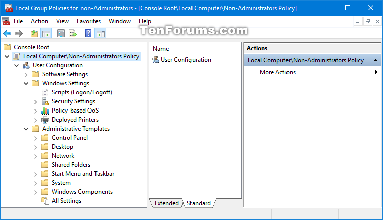 Apply Local Group Policy to Non-Administrators in Windows 10 | Tutorials