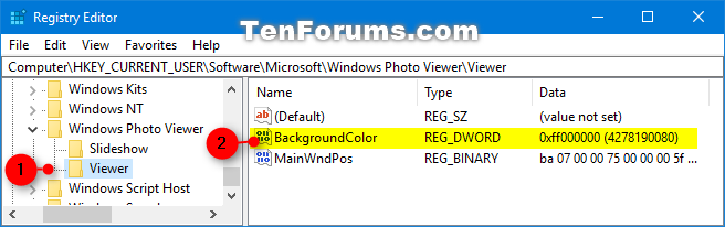 Change Windows Photo Viewer Background Color in Windows-windows_photo_viewer_background_color-1.png
