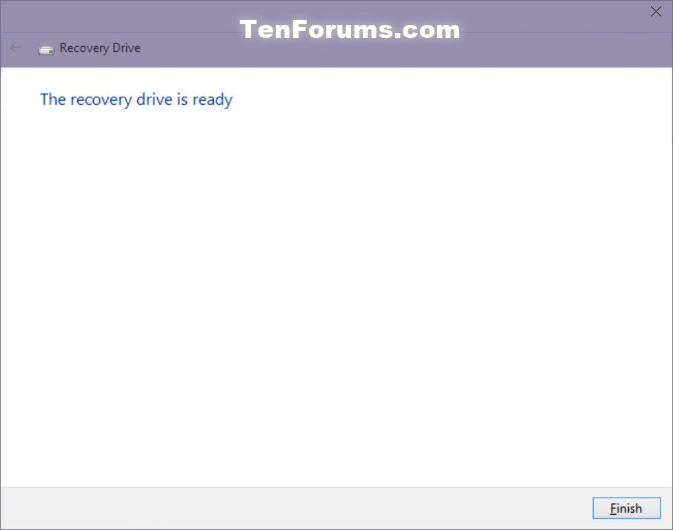how to create windows recovery disk windows 10