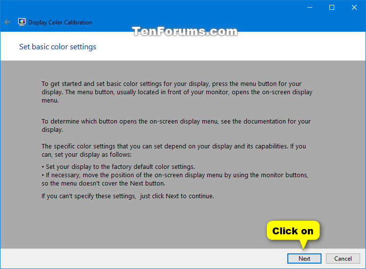 Calibrate Display Color in Windows 10 | Tutorials