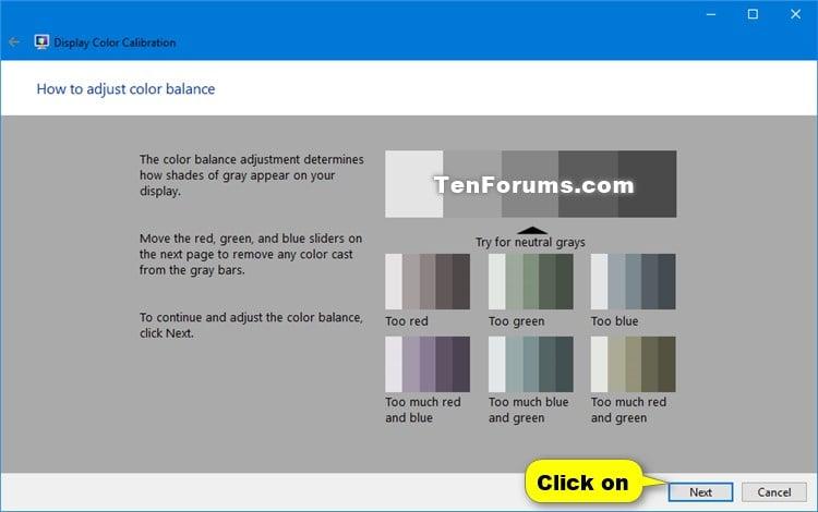 Calibrate Display Color in Windows 10   Tutorials