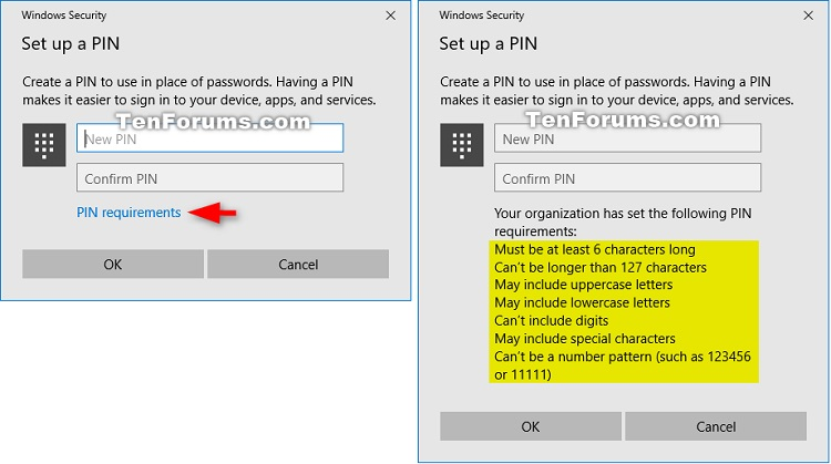 how to create a pin code in windows 10