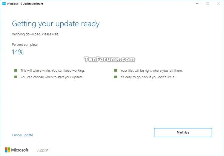 windows 10 upgrade download size