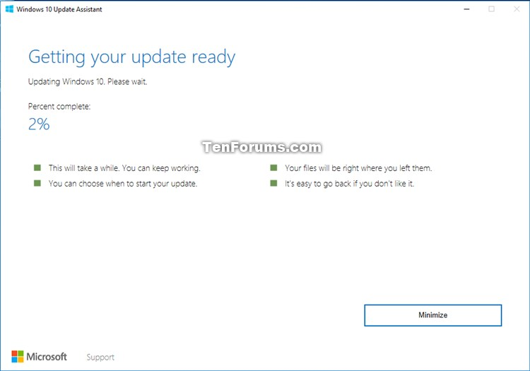 Update to Latest Version of Windows 10 using Update Assistant