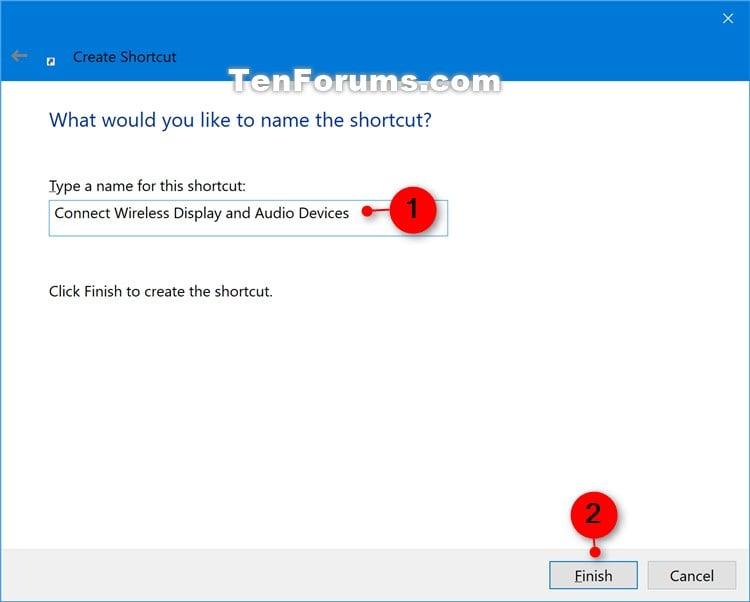 Create Connect shortcut in Windows 10   Tutorials