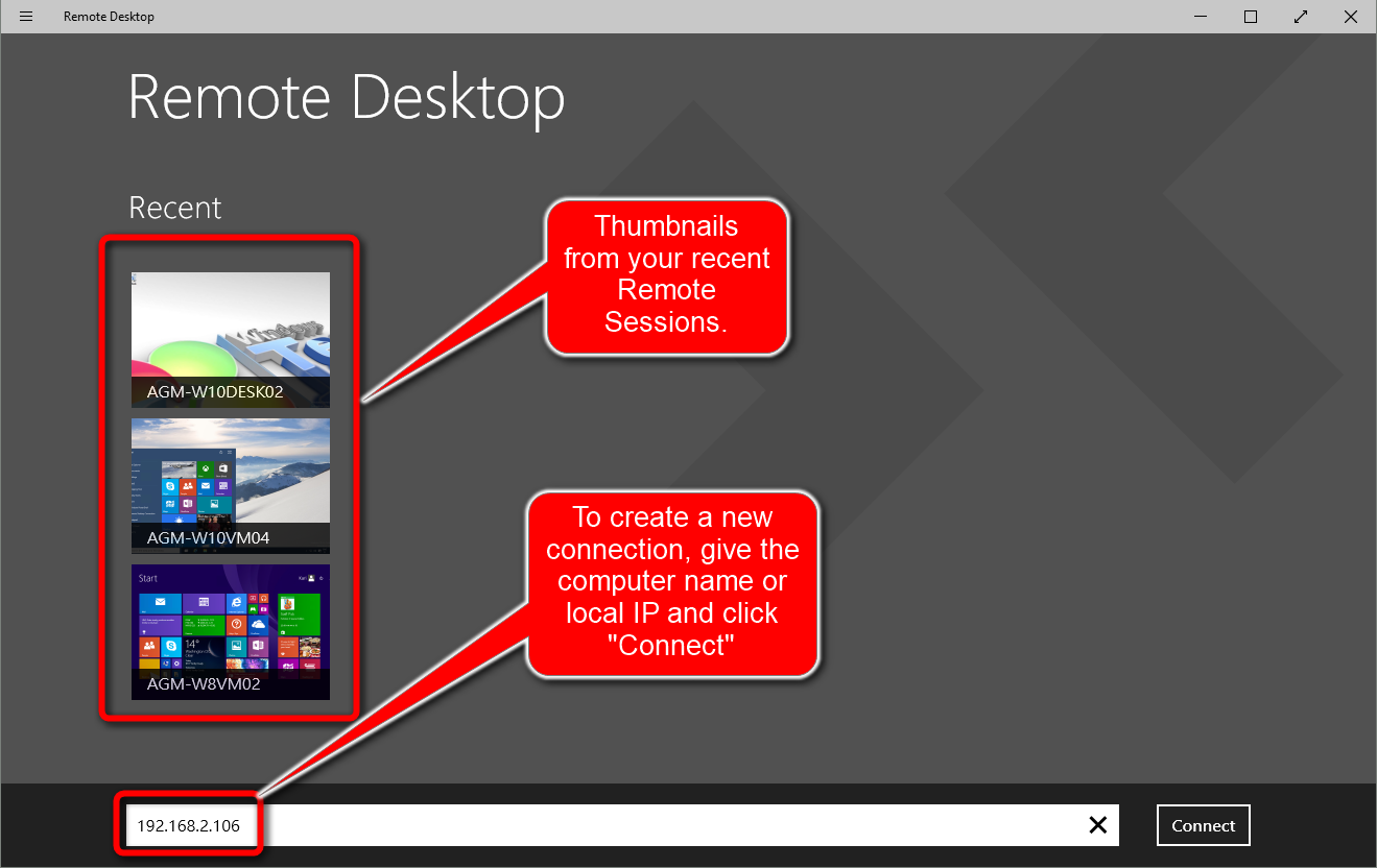 Rdc connect remotely to your windows 10 pc windows 10 for Window remote desktop