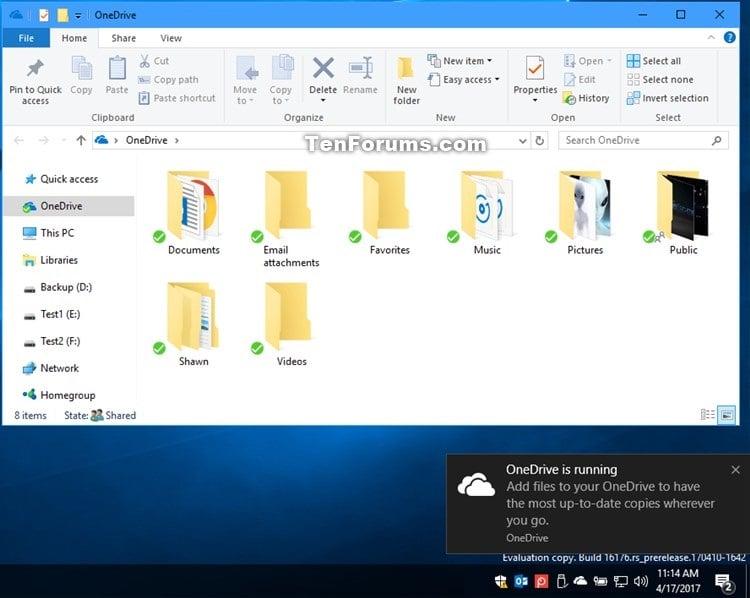 Add Open or Close OneDrive Context Menu in Windows 10