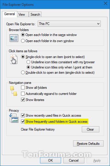 Add or Remove Frequent folders from Quick access in Windows 10-file_explorer_options.png