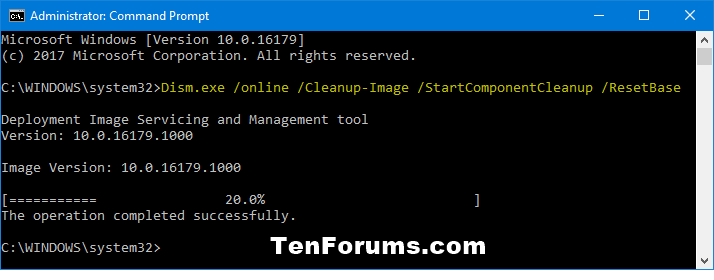 Clean Up Component Store (WinSxS folder) in Windows 10-startcomponentcleanup_resetbase_command.png