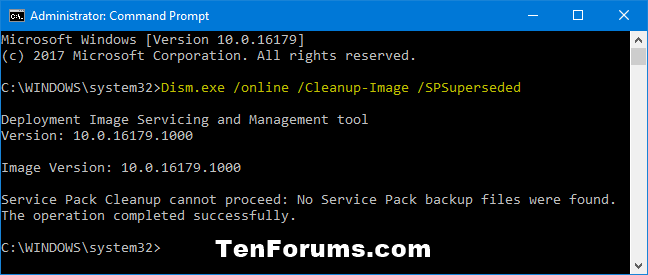 Clean Up Component Store (WinSxS folder) in Windows 10-spsuperseded_command.png
