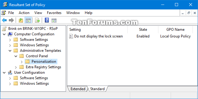 See Applied Group Policies in Windows 10 | Tutorials