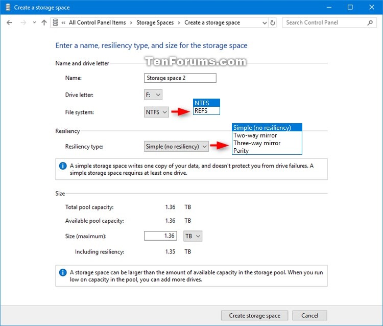 Create Storage Space for Storage Pool in Windows 10-create_storage_space_in_storage_pool-2.jpg