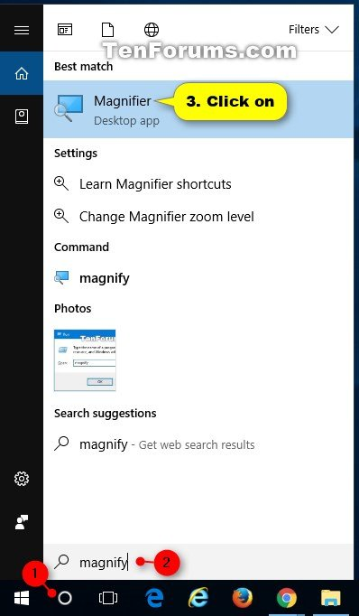 Open and Close Magnifier in Windows 10 | Tutorials
