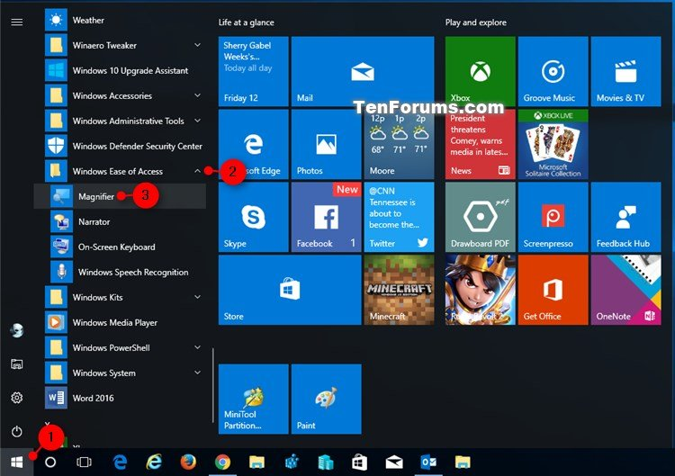 how to turn off magnifier on windows 10