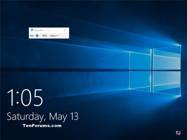 Turn On or Off Auto Start Magnifier before Login in Windows