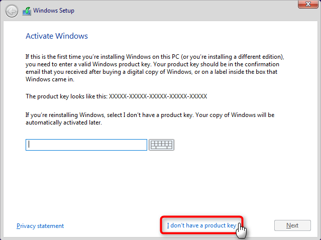 Apply Windows Image using DISM Instead of Clean Install-skip-key.png