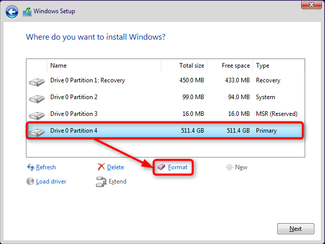 Apply Windows Image using DISM Instead of Clean Install-format-c-gpt.png