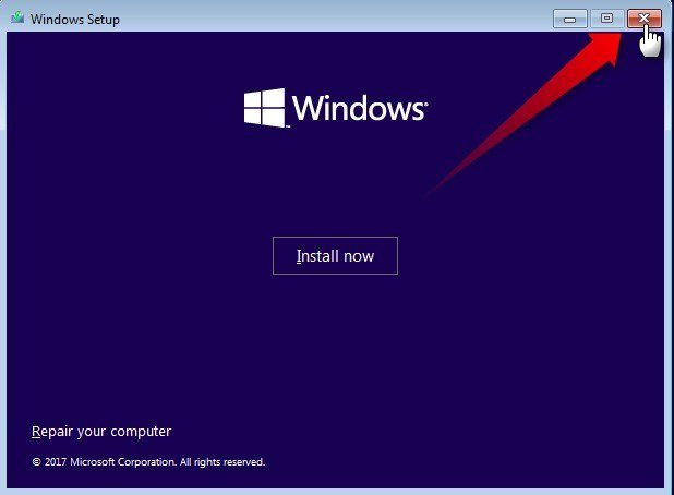 Apply Windows Image using DISM Instead of Clean Install-close-setup.jpg