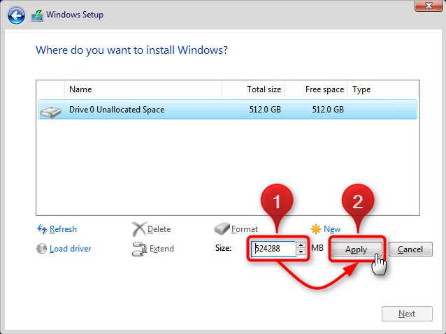 Apply Windows Image using DISM Instead of Clean Install-allocate-2.png