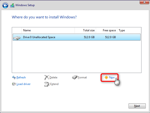 Apply Windows Image using DISM Instead of Clean Install-allocate-1.png