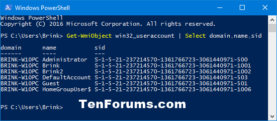 Find Security Identifier (SID) of User in Windows | Tutorials