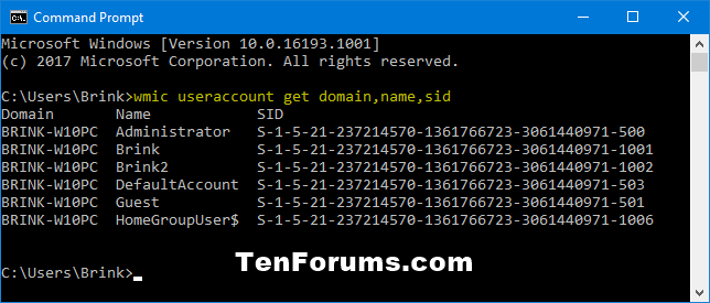 Find Security Identifier (SID) of User in Windows-wmic_useraccount-1.png