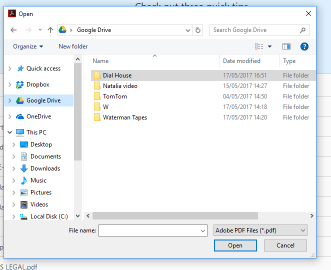 Add or Remove Google Drive from Navigation Pane in Windows
