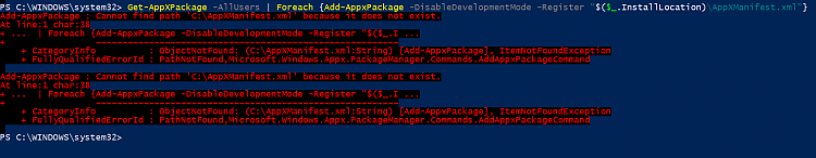 Reinstall and Re-register Apps in Windows 10-powershell-error-3.png