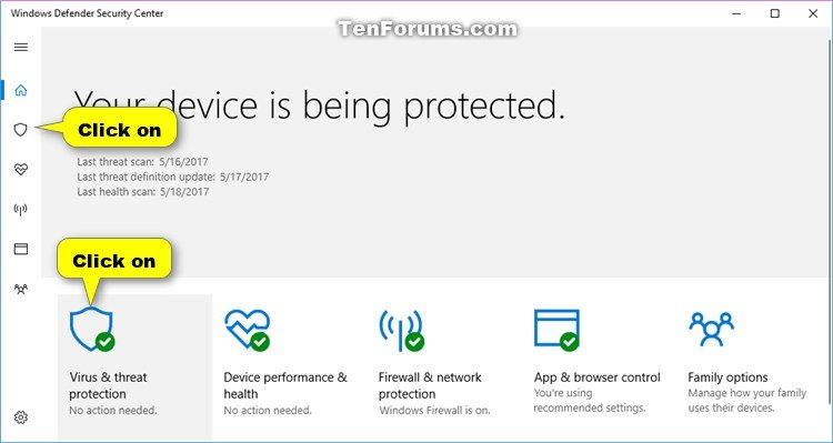 How to Scan with Windows Defender Antivirus in Windows 10