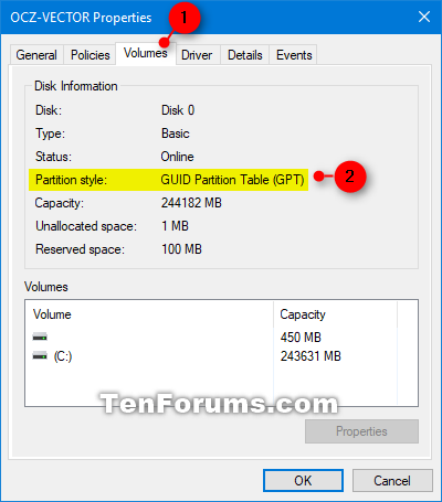 Check if Disk is MBR or GPT in Windows | Tutorials
