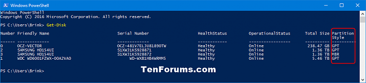 Click image for larger version.  Name:Get-Disk_PowerShell.png Views:460 Size:22.7 KB ID:135674