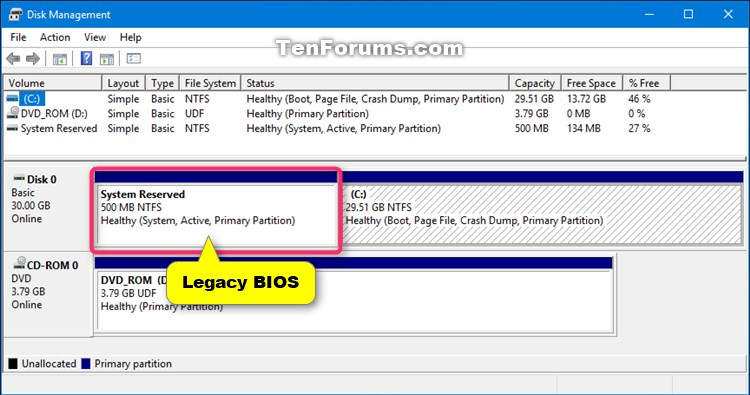 Check if Windows 10 is using UEFI or Legacy BIOS-legacy_bios_disk_management.jpg