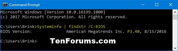 Check BIOS or UEFI Firmware Version in Windows 10 | Tutorials