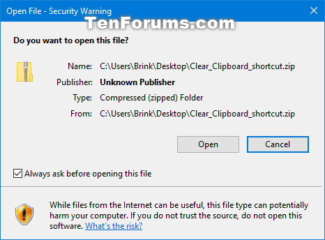 Disable Downloaded Files from being Blocked in Windows-open_file-security_warning.png